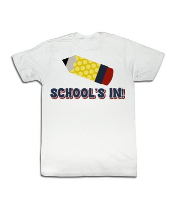 White 'School's In!' Tee - Toddler & Kids