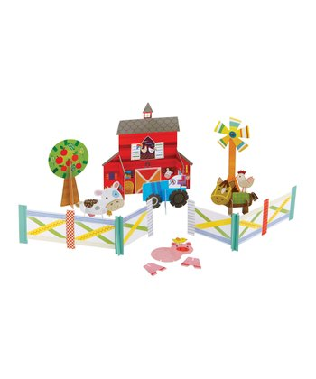 On the Farm 3-D Puzzle