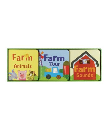 Farm Animals, Farm Tour & Farm Sounds Board Books
