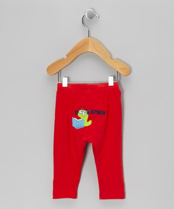 Red 'Bookworm' Pants - Infant & Toddler