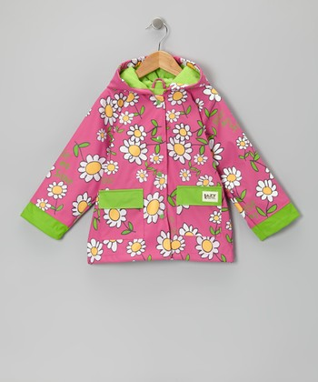 Pink Rise and Shine Raincoat - Toddler & Girls