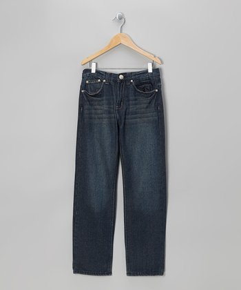 Vintage Indigo Denim Straight-Leg Jeans - Boys