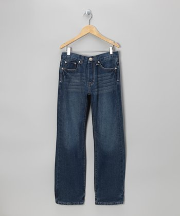 Classic Indigo Denim Straight Leg Jeans - Boys