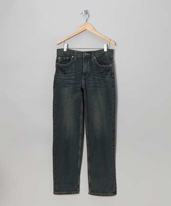 Dark Indigo Denim Straight Leg Jeans - Boys