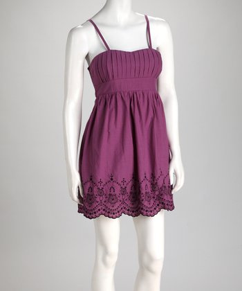 Purple Scalloped Dress