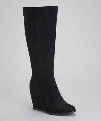 Black Woody Wedge Boot
