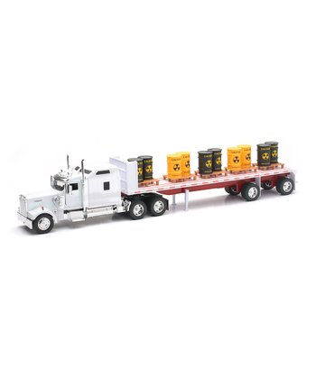 Kenworth Flatbed & Toxic Barrels Set