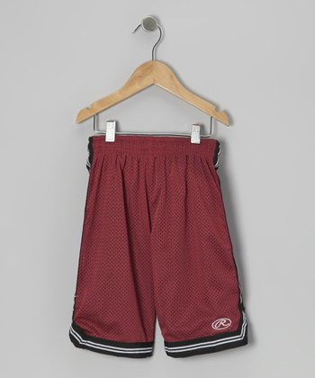 Vintage Red Stripe Mesh Shorts