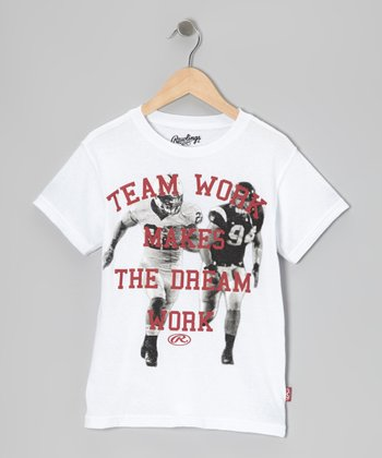 Pure White 'Team Work/Dream Work' Tee