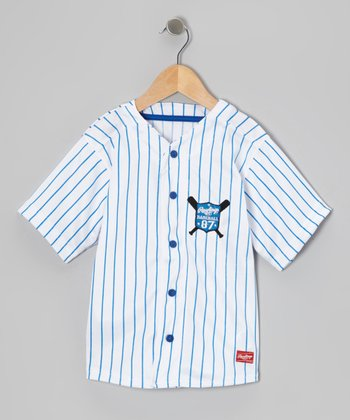 Twilight Pinstripe Baseball Button-Up