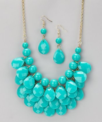 Turquoise Waterdrop Necklace & Earrings