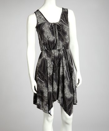 Black Chain Handkerchief Dress