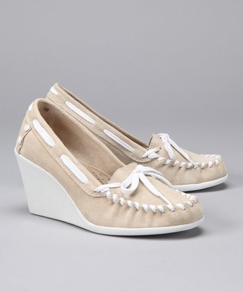 Stone Tide Split Suede Wedge