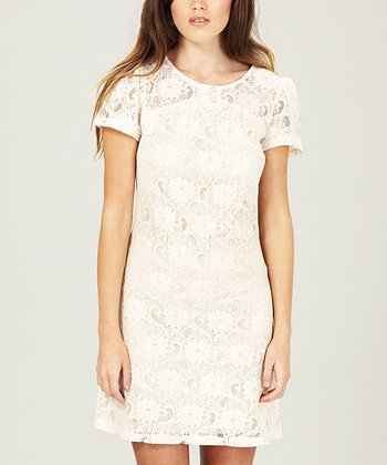 Cream Lace Millie Dress