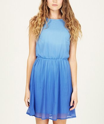Sky Blue Sorbet Ombré Dress