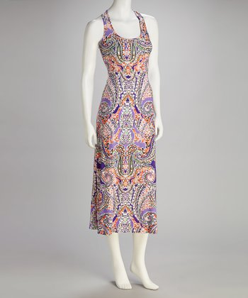 Purple Paisley Racerback Dress