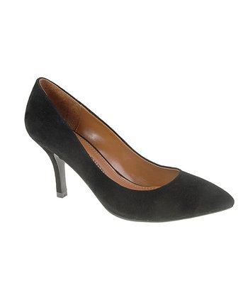 Black Suede Area Pump