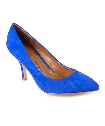 Cobalt Blue Suede Area Pump