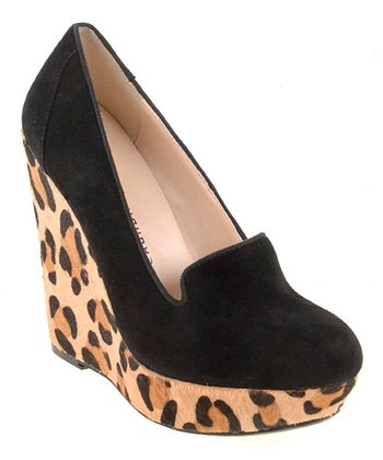 Black Suede Mad Money Wedge