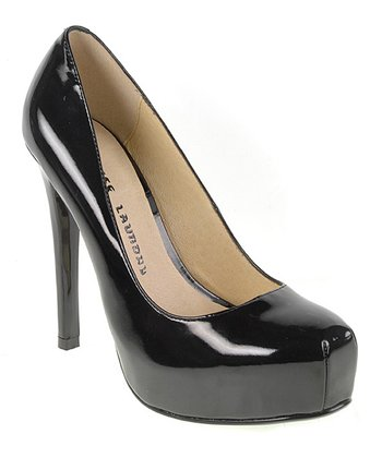 Black Patent Whistle Pump