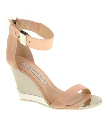 New Nude Suede Sogno Wedge Sandal
