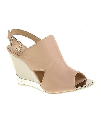 New Nude Sorriso Cutout Wedge