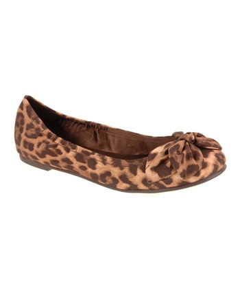 Brown Leopard Great Life Flat