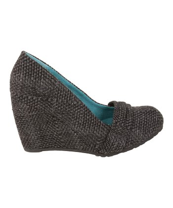 Black Dublin Tweed Idra Wedge