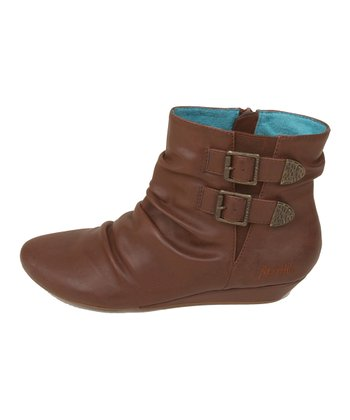 Cognac Austin Faux Leather Ginnifer Ankle Boot