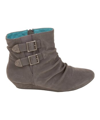 Gray Fawn Faux Leather Ginnifer Ankle Boot