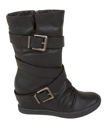 Black Austin Faux Leather Tavi Boot