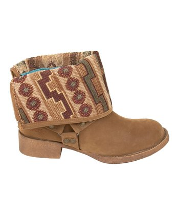 Earth Fawn & Natural Tonto Kenessa Fold-Over Boot