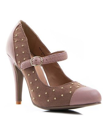 Taupe Pin Dot Ashland Mary Jane Pump