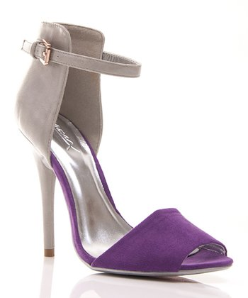 Gray & Purple Calantha 01 Sandal