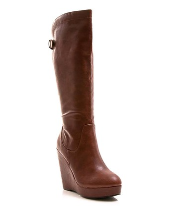 Brown Buckle Full House 13 Wedge Boot