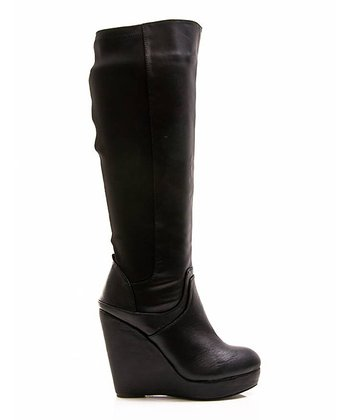 Black Full House 14 Wedge Boot