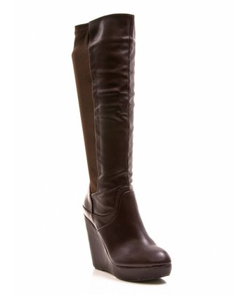 Dark Brown Full House 14 Wedge Boot