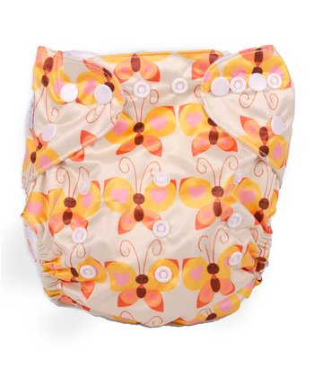 Butterflies Double-Gusset Pocket Diaper
