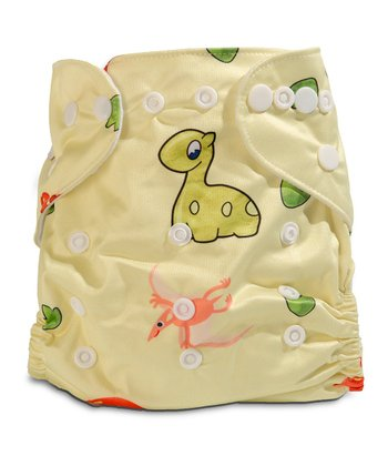 Dino Fun Double-Gusset Pocket Diaper