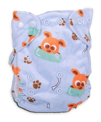 Fuzzy Puppy Double-Gusset Pocket Diaper