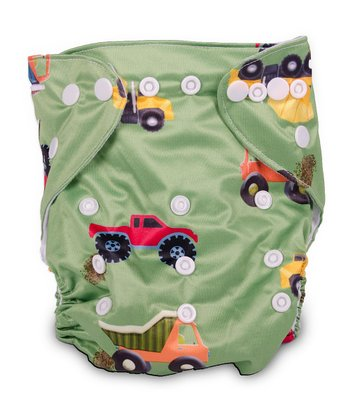 Trucks Double-Gusset Pocket Diaper