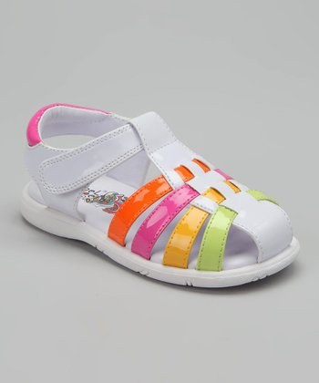 White & Pink Summertime Closed-Toe Sandal