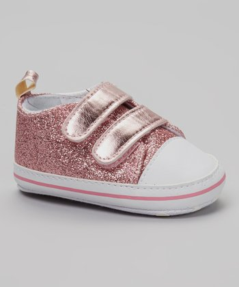 So Dorable Pink & White Glitter Sneaker