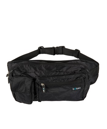 Black Hip Pack Diaper Bag