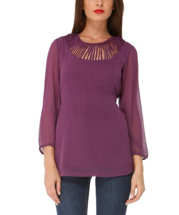 Plum Cutout Garden Top