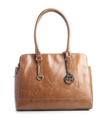Cognac Kimberley Compartment Double Shoulder Bag