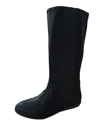 Black Stretch Boot