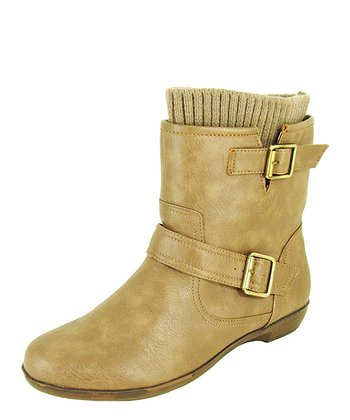 Taupe Motorcycle Ankle Boot