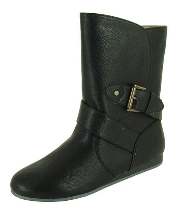 Black Mayday Buckle Ankle Boot