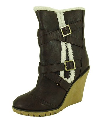 Brown Tiana Buckle Boot